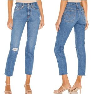 Levi's wedgie fit icon in Athens Hera medium wash